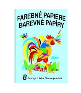 Papíry barevné nelepící 8l