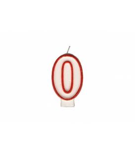 """Svíčka dortová – číslo """"0"""""""