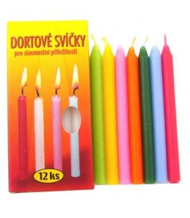 Svíčky dortové barevné 8x95mm