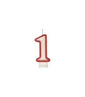 """Svíčka dortová – číslo """"1"""""""