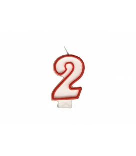 """Svíčka dortová – číslo """"2"""""""