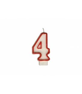 """Svíčka dortová – číslo """"4"""""""