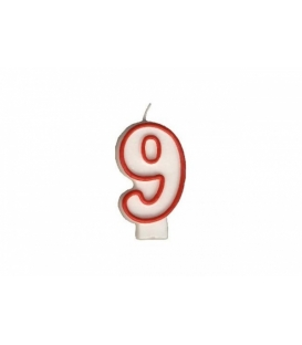 """Svíčka dortová – číslo """"9"""