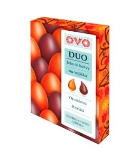 Barvy na vajíčka OVO DUO tekuté oranžová,hnědá