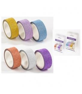 Páska lepící dekorační glitrová/3ks v balení