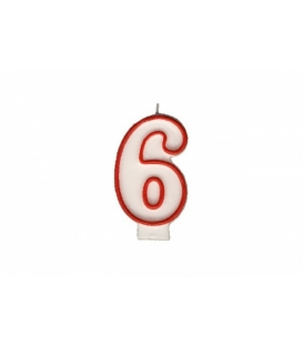 """Svíčka dortová – číslo """"6"""""""