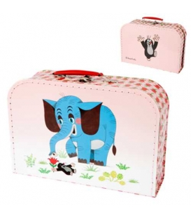Kufřík dětský na malířské potřeby 30cm Krtek a slon