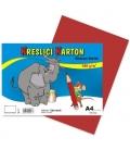 Karton kreslící barevný A4 180g červený