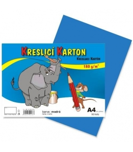 Karton kreslící barevný A4 180g modrý