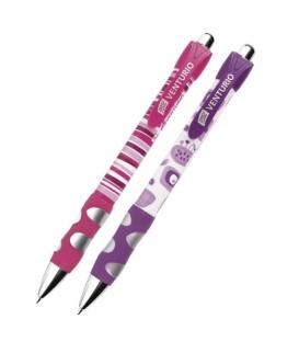 Pero kuličkové Venturio blistr fialovo-růžové