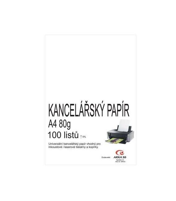 Papír xerografický A4 80g 100 listů