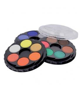 Barvy vodové 18 odstínů kulaté 171505