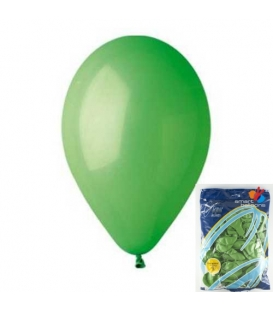 Balónek nafukovací kulatý zelený/ 100ks