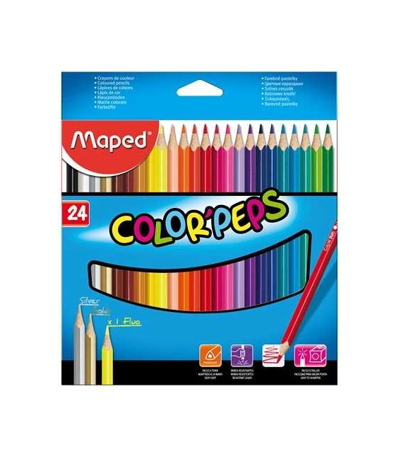 Pastelky MAPED ColorPeps 24