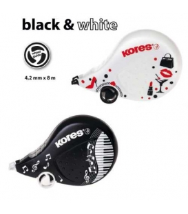Korektor SCOOTER Black White 4,2mmx8m