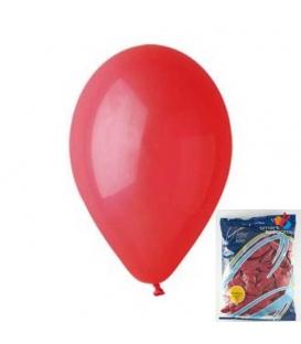 Balónek nafukovací kulatý červený/ 100ks