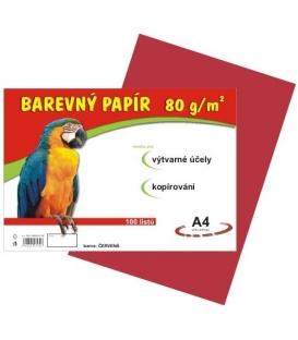 Papír náčrtkový A4 80g červený
