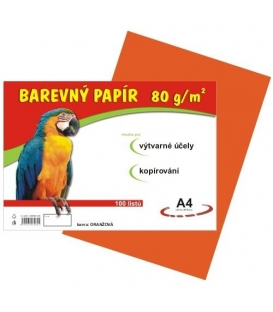 Papír náčrtkový A4 80g oranžový