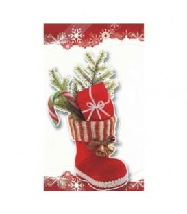 Sáček vánoční mikulášský Bota Vánoční 20 x 35 cm