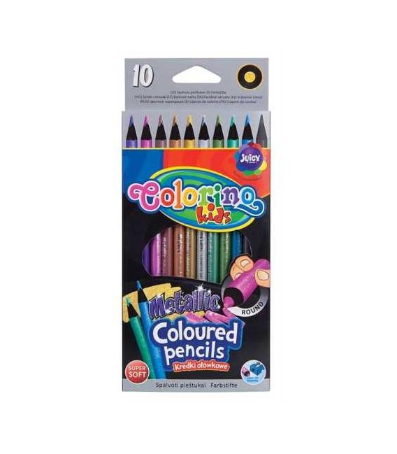 Pastelky Colorino 10 barev metalické