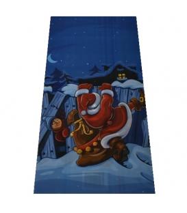 Sáček vánoční Mikuláš modrý 20x40cm
