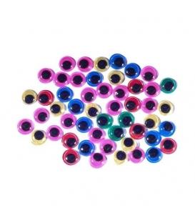 Oči pohyblivé 1cm/ 50ks mix barev v sáčku