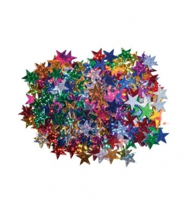 Konfety metalické hvězdičky barevné