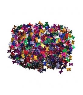 Konfety metalické motýlci