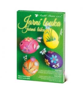 Barvy na vajíčka sada jarní louka