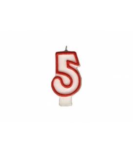 """Svíčka dortová – číslo """"5"""""""
