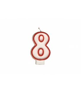 """Svíčka dortová – číslo """"8"""""""