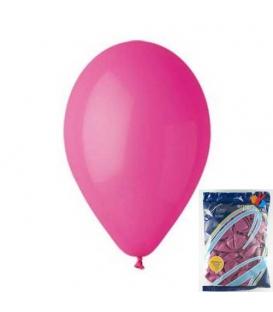 Balónek nafukovací kulatý růžový/ 100ks