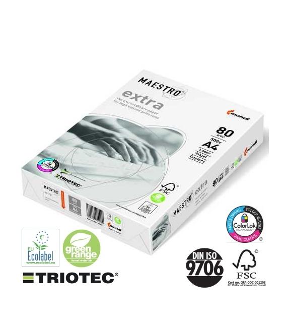 Papír xerografický MAESTRO TRIOTEC EXTRA A4, 80g/500listů