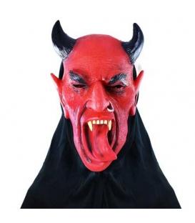 Maska karnevalový Čert s jazykem