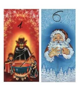 Sáček vánoční Mikuláš celofán - boční sklad