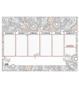Kalendář stolní A3 týdenní /30 listů/  Antistres