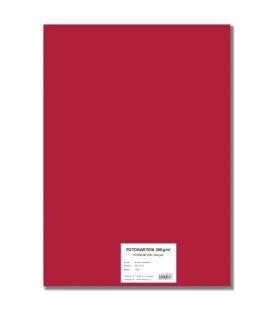 Fotokarton A4/10/300g červený