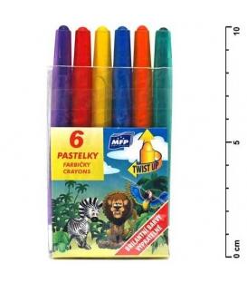 Voskovky vysouvací Pap 6 barev