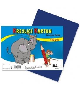 Karton kreslící barevný A4 180g tmavě modrý