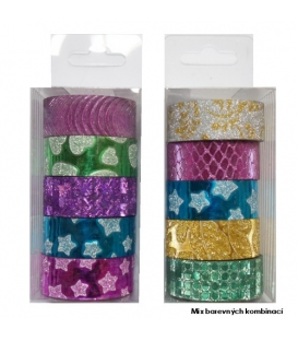 Páska lepící dekorační/ 5ks v balení