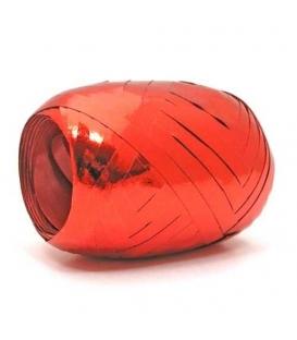 Stuha 0,5x20m metal vajíčko červená