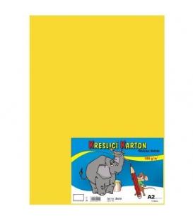 Karton kreslící barevný A2 180g žlutý