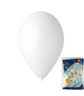 Balónek nafukovací kulatý bílý/ 100ks