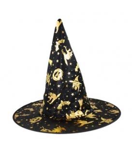 Maska karnevalová Klobouk Čarodějnice-Halloween děstký
