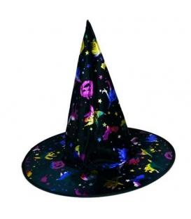 Maska karnevalová Klobouk čarodějnický