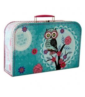 Kufřík dětský na malířské potřeby 35cm  Sova