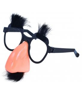 Maska karnevalová Brýle s nosem,knír a obočí
