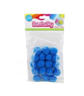Bambulky kreativní modré (18ks v sáčku) 25mm