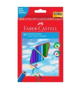 Pastelky FABER Eco trojhranné 36 barev
