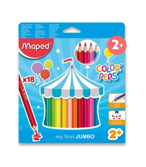 Pastelky MAPED MAXI 18 barev